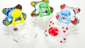 fopspenen Keith Haring, Difrax spenen, baby, hippe fopspenen