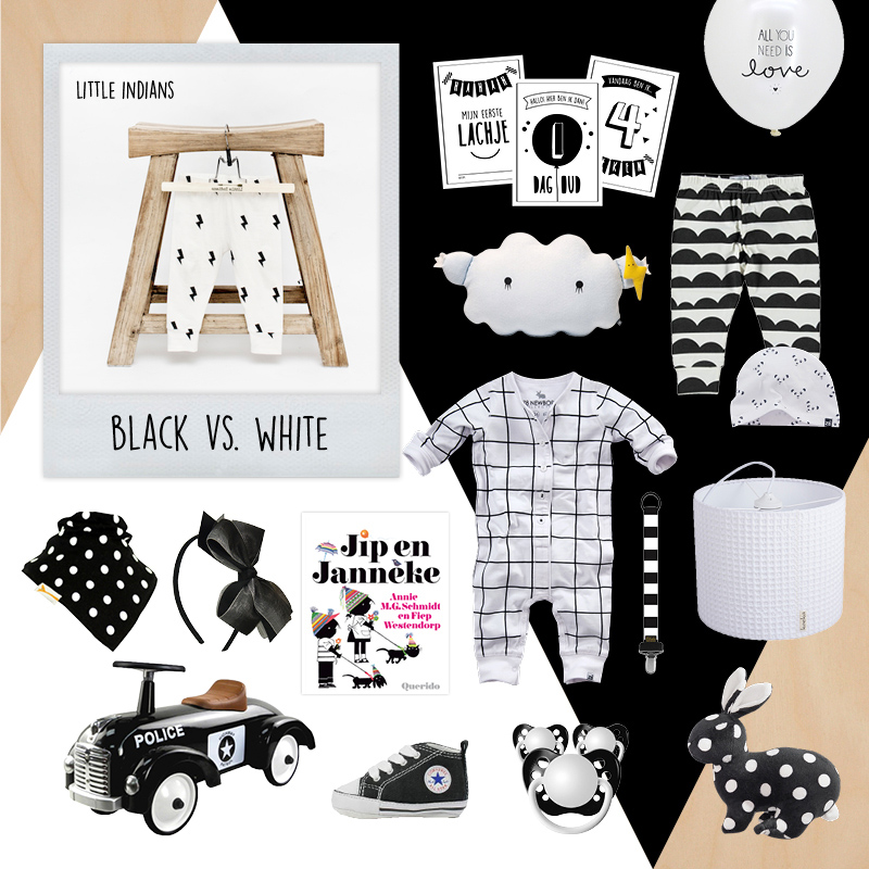 BABYLABEL, Baby collages, Black White, hippe kraamcadeautjes