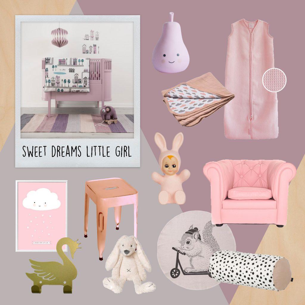 Babylabel, baby meisje, babykamer meisjes, babygirl, roze babykamer