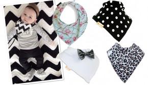 Hippe kwijl sjaaltjes, zweversjaaltjes, kwijlsjaaltjes, zwart wit sjaaltjes voor baby's, babysjaaltjes