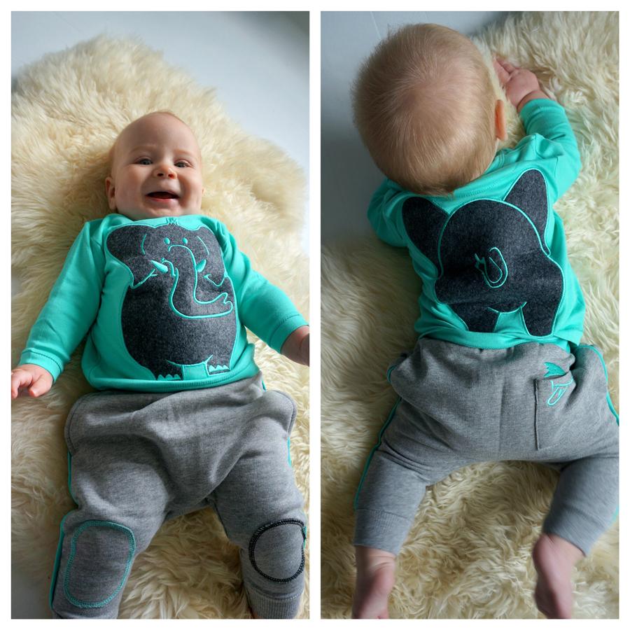 Qtie babykleding, vrolijke babykleding, hippe babykleding