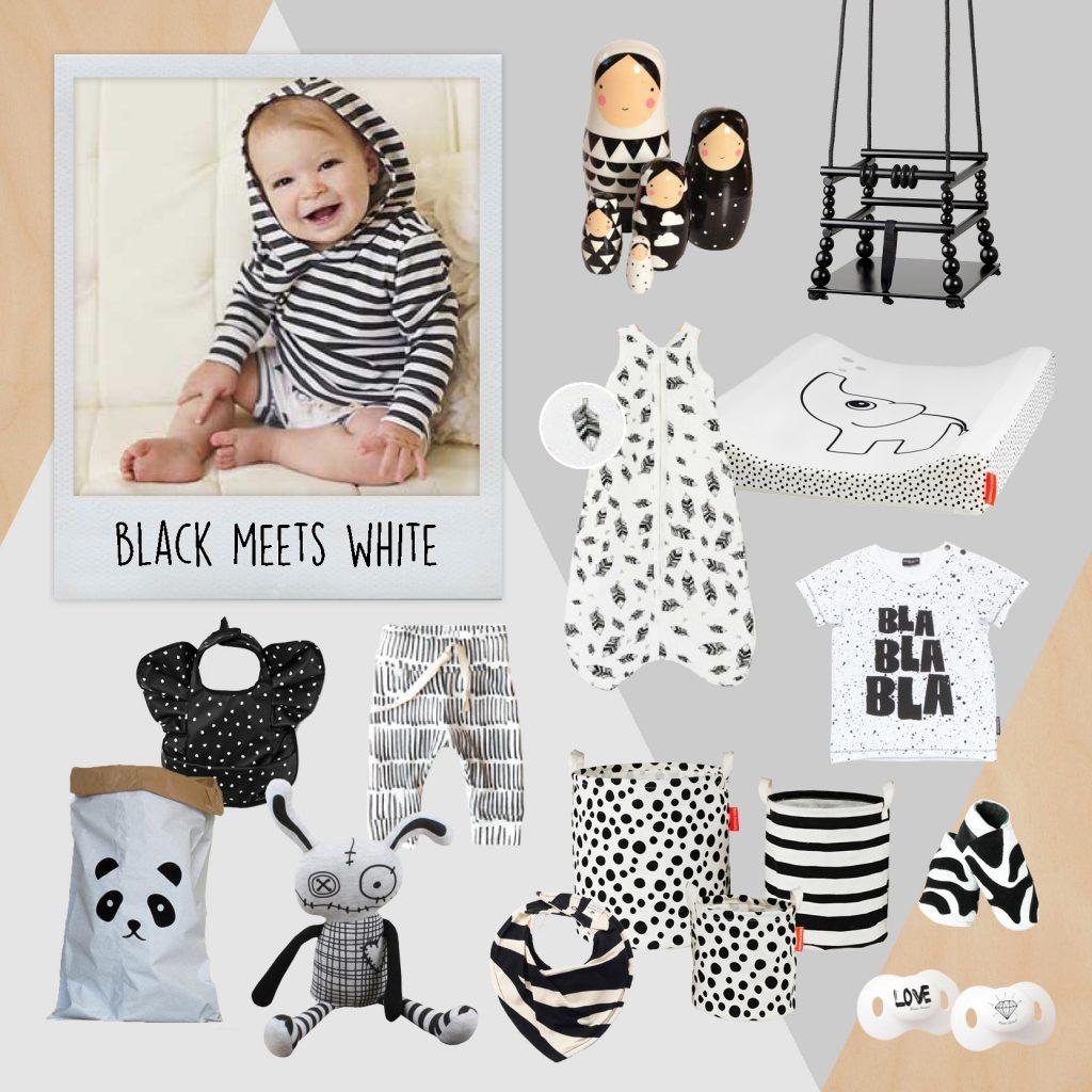Zwartwit baby, babykleding zwart wit, black white, zwartwit accessoires, zwart wit babyspullen