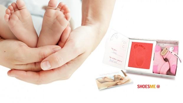 babyproof kraamcadeau, Shoesme, eerste voetafdrukje, bijzonder kraamcadeau, babylabel