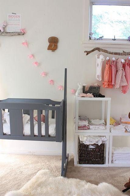lichte babykamer, babykamer meisje