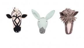 dierenhoofden, kidsdepot, decoratie babykamer, kinderkamer, vilten dierenhoofden