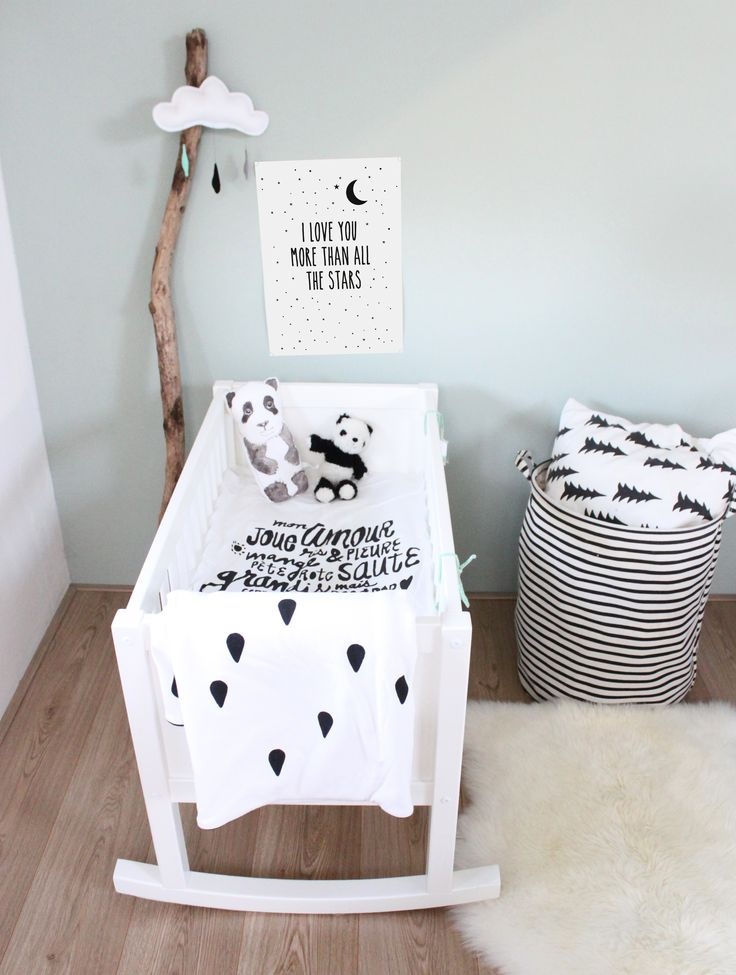 zwart wit babykamers