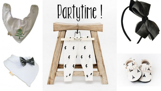 Baby feestkleding, Babylabel Party Time