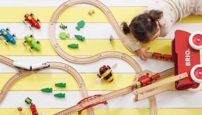 Brio houten speelgoed, babylabel
