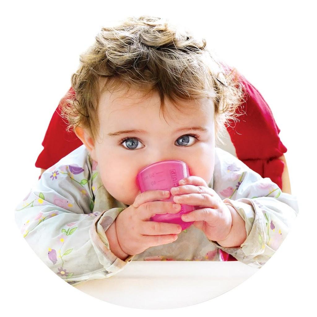 babycup, beker, drinkbeker, babylabel