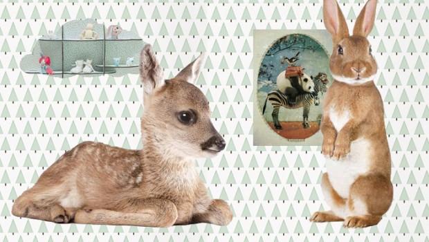 lieve diertjes op de babykamer - babylabel, Deco ideeën