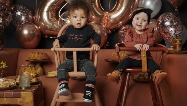 Baby feestkleding, Babylabel Party Time