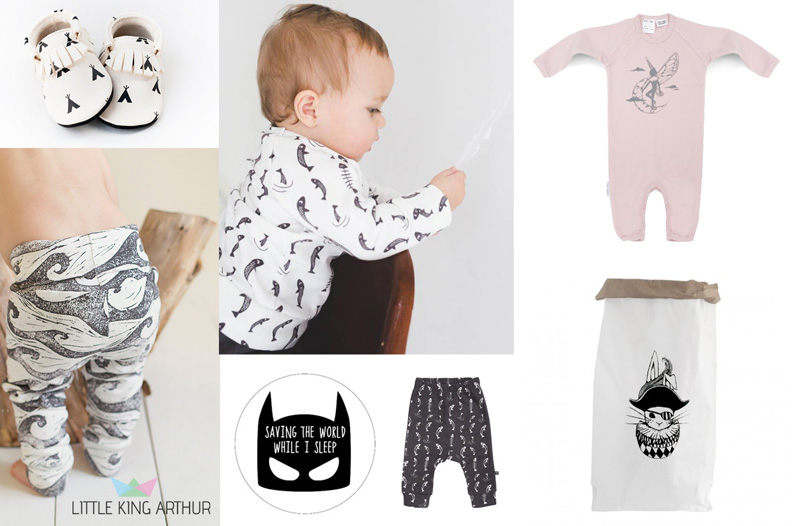 Little King Arthur winactie, babylabel