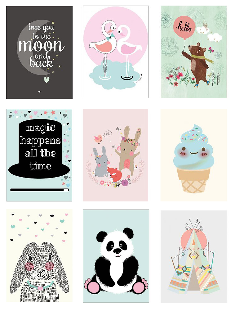 babykamer posters, babylabel