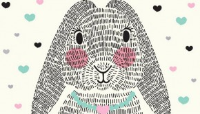 babykamer posters, poster konijn