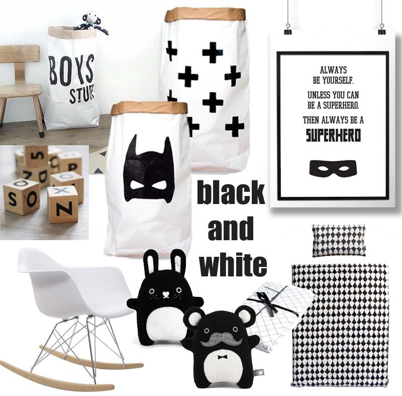 zwart wit babykamer accessoires  babylabel, Meubels Ideeën