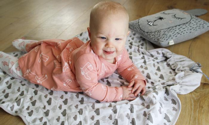Warpper Clever Quilt, baby deken, wikkeldeken, babylabel