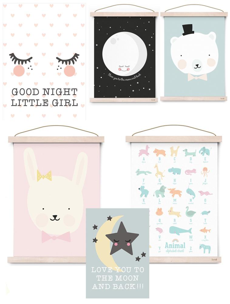 mooie babykamer posters | babykamer styling - babylabel, Deco ideeën