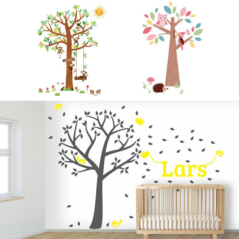 muurstickers voor de babykamer, muurstickers bomen, babykamers