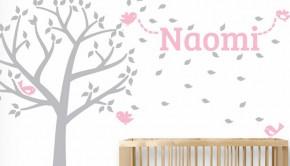 muurstickers voor de babykamer, naamstickers