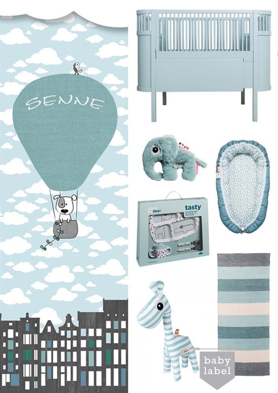blauw op de babykamer, babykamer blauw, babykamer inspiratie
