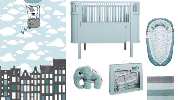 zacht blauw op de babykamer - babylabel, Deco ideeën