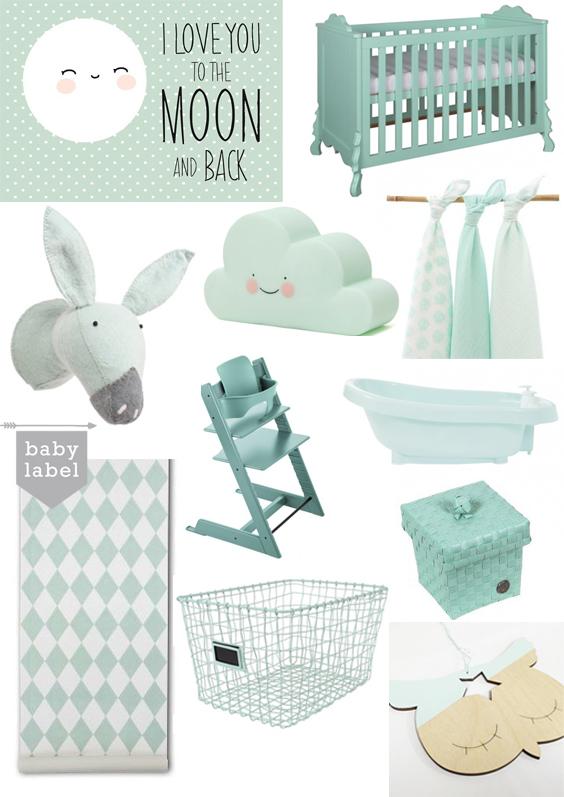 Mintgroen op de babykamer  Babykamers Babylabel