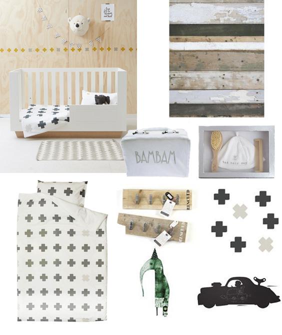 babykamer naturel, hippe babykamer, babykamer accessoires, blikken en blozen