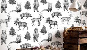 behang babykamer, behang kinderkamer, graham brown, dierenbehang
