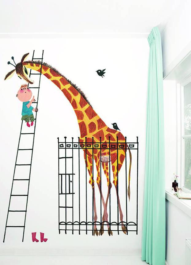 Vrolijke muren met behang kinderkamer babylabel - Behang van de jaren ...