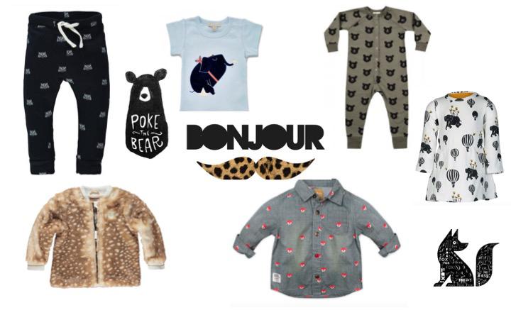 dierenprints kinderkleding, hippe babykleding, babylabel