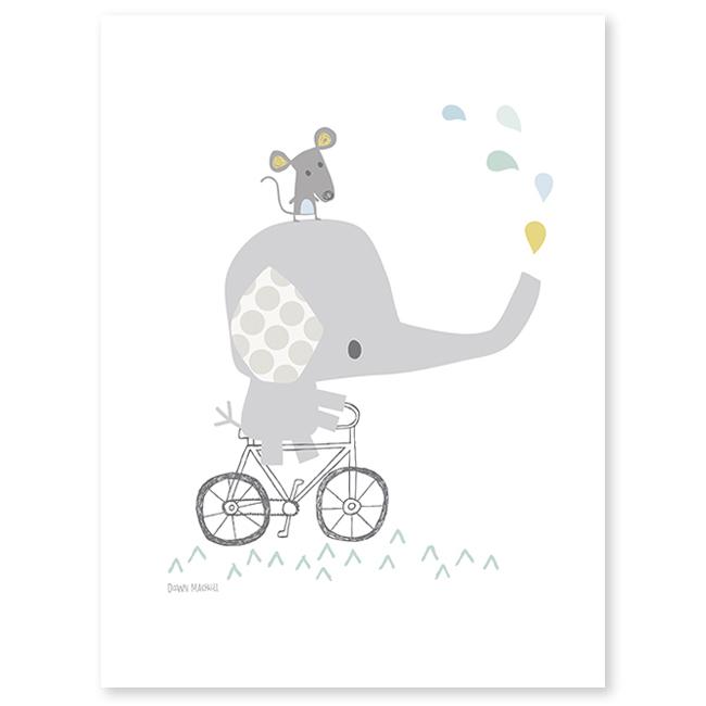 lilipinso-poster-olifant-op-de-fiets