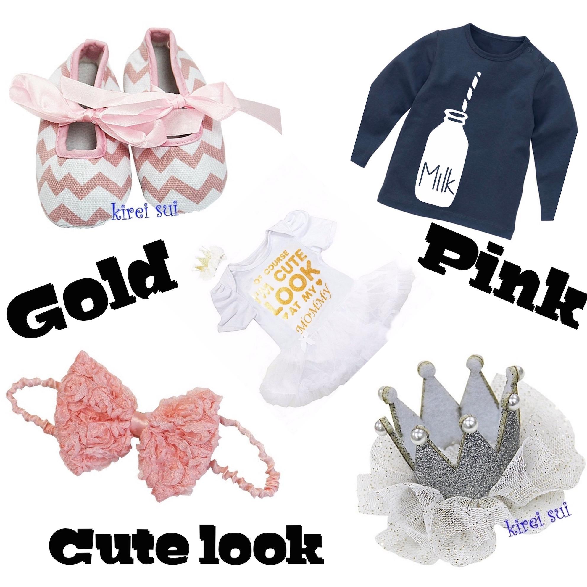 Gold & Pink Dottig.com