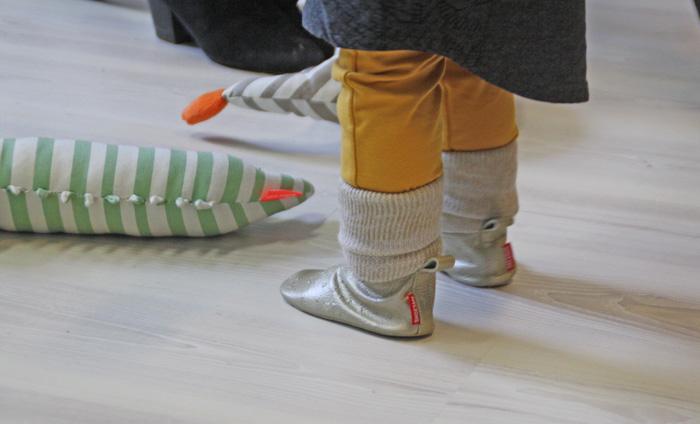 babyslofjes, dokslofjes, shoesme slofjes, zilveren babyslofjes