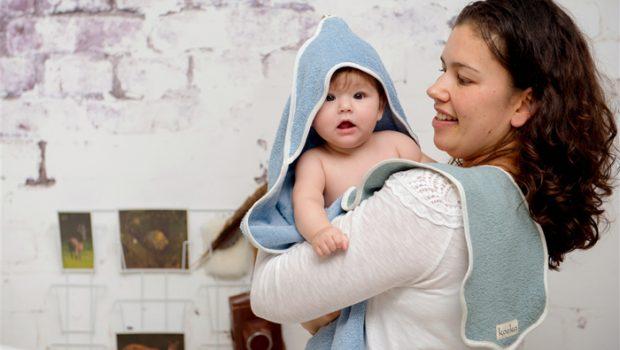 babyverzorging, badcape