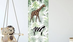 jungle baby kamer, jungel baby kamer, jungle babyroom, jungle behang, jungle kinderkamer