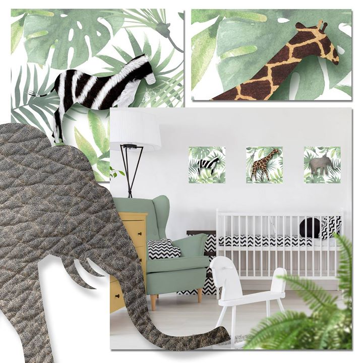jungle baby kamer, jungel baby kamer, jungle babyroom, jungle behang, jungle kinderkamer