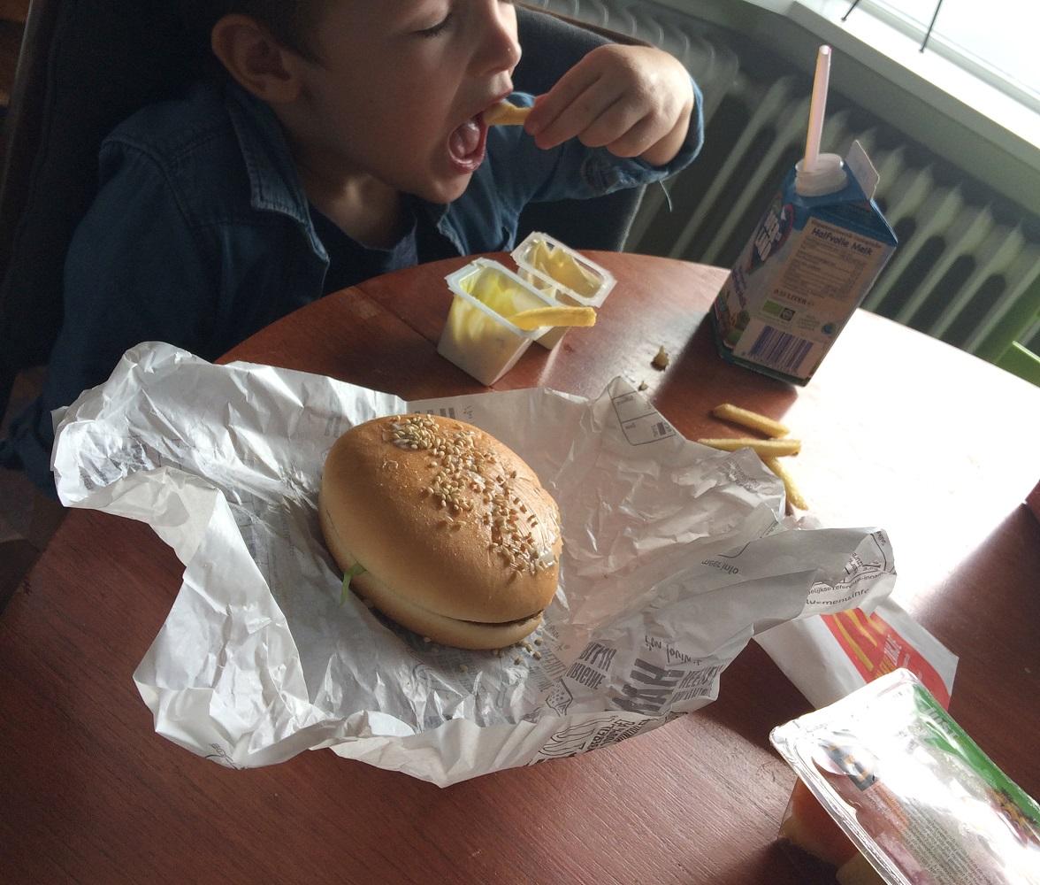 eten tijdens weeën