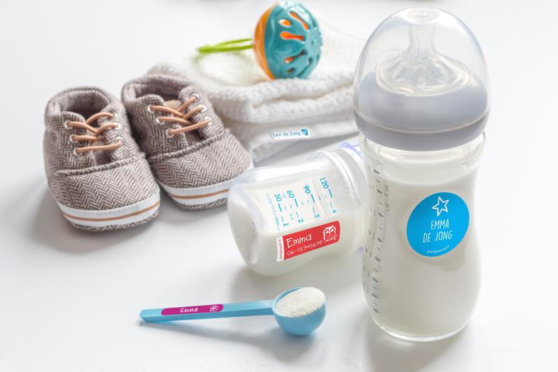 goedgemerkt babypakket, naamstickers kinderdagverblijf
