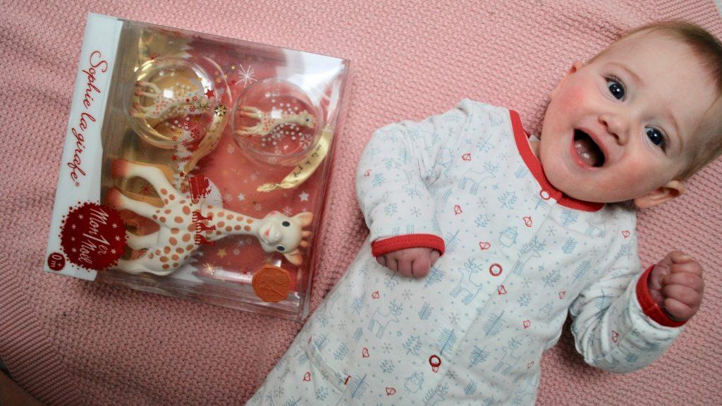 babys eerste kerstbal, sophie de giraf kerstbal