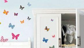 babykamer muurstickers, vlinder muurstickers