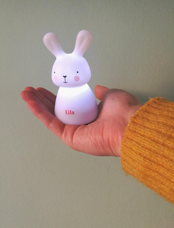 nachtlampje, nachtlampje baby, olala lampjes, nachtlampje konijn, nachtlampje baby