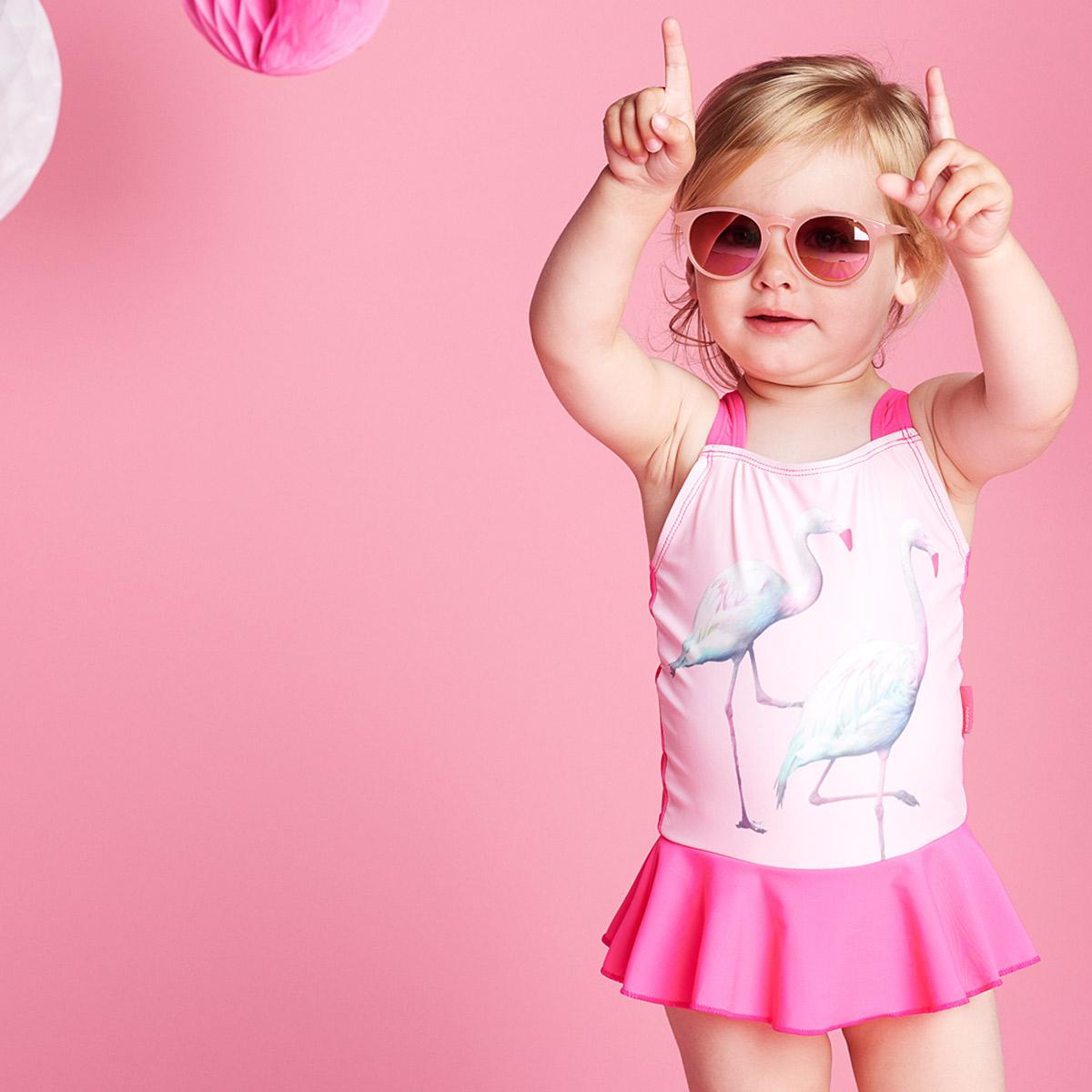 baby badpakje, zwemkleding voor baby's, meisjes badpak, flamingo badpak