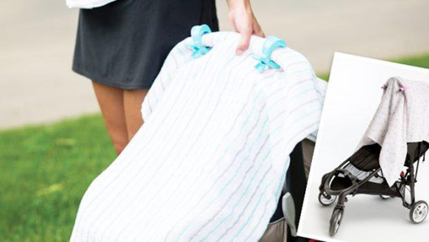 hhydrofiele doek over kinderwagen