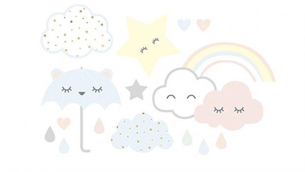 Poster Babykamer Pastel : Lilipinso muurstickers op de babykamer babylabel