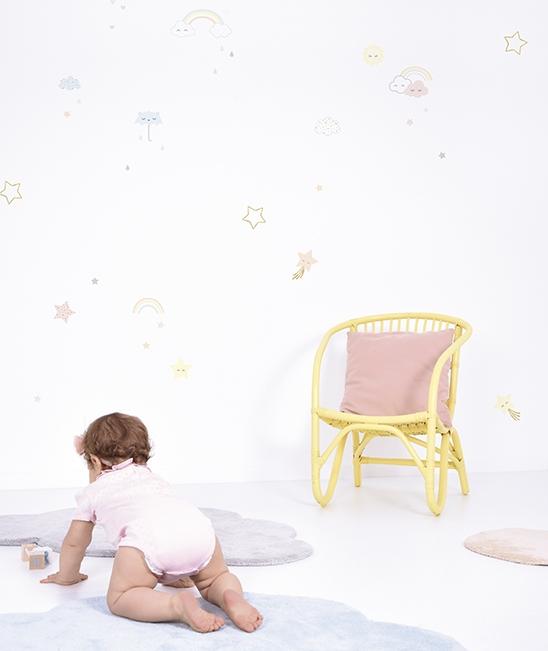 lilipinso muurstickers, muurstickers babykamer, pastelkleur babykamer
