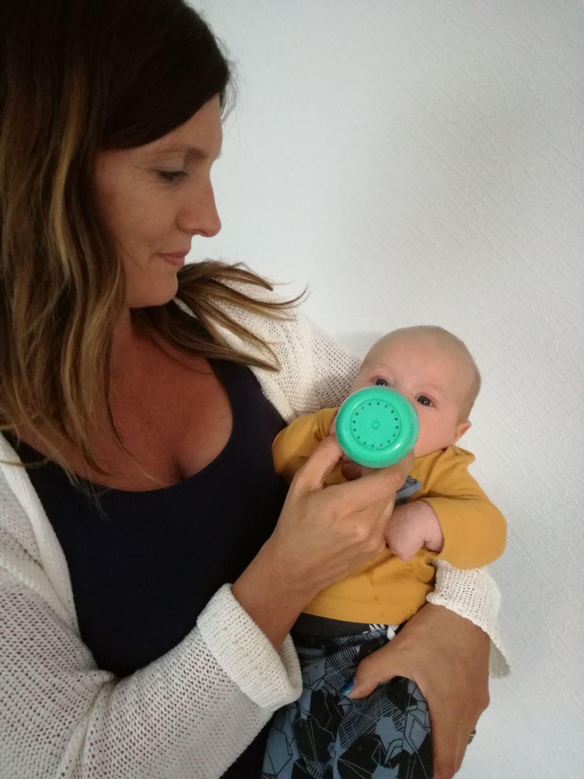difrax starterset, eerste baby fles