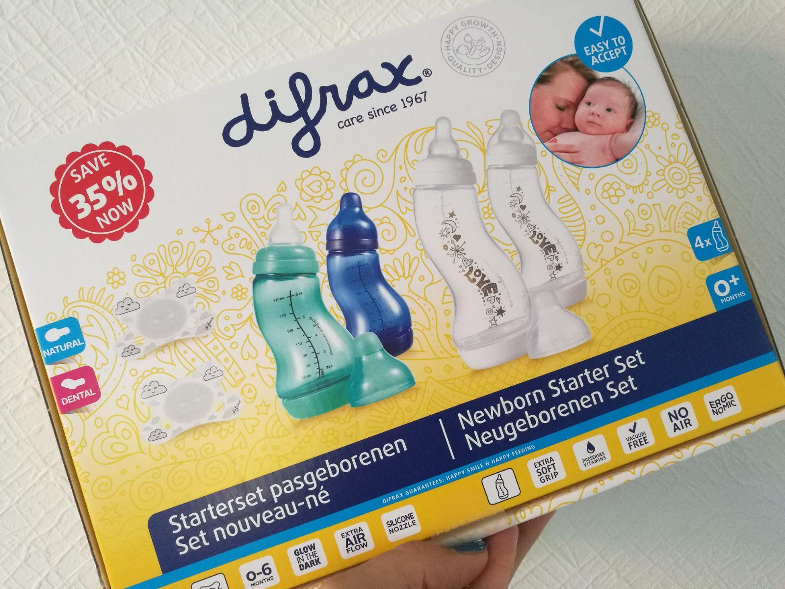 difrax starterset, babyflessen, eerste babyfles