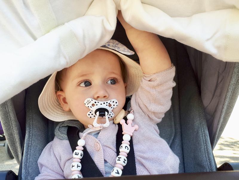 zonnekap baby, dooky, dooky cover test, dooky review, babylabel, kinderwagen zonnekap
