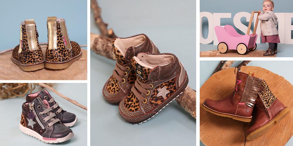 babylaarsjes, babyschoentjes, babyschoentjes met panterprint, shoesme babyschoenen