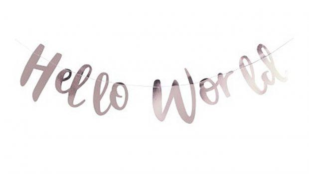 kraamweek, geboorteslingers, geboorteslinger hello world